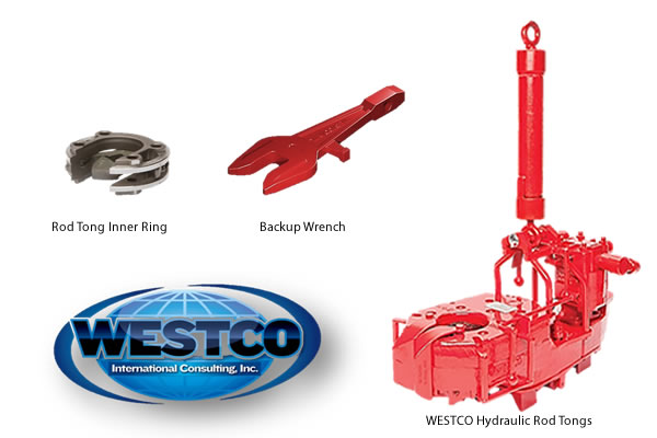 Product Specs: WESTCO International Consulting – Hydraulic Sucker Rod Tong – Models M20, M40, M50, M75