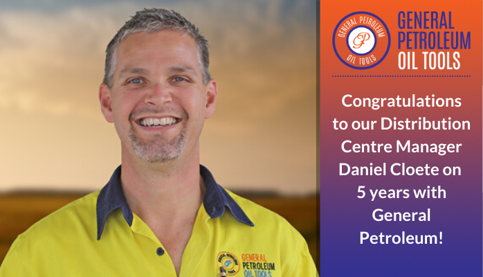 Congratulating Daniel Cloete on 5 Years with Gpot